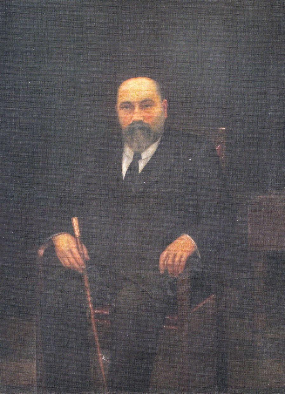Retrato del alcalde Celestino Cabeza Roces - José Antonio Fernández Mar