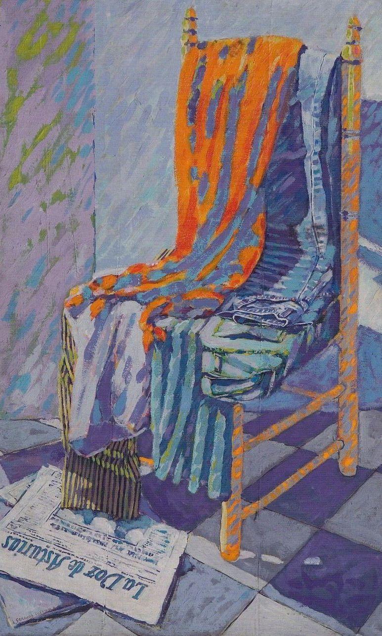 Silla con ropa - Gerardo Llaneza