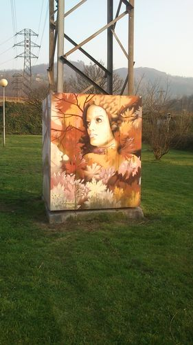 Paseo mitológico en Sama de Langreo junto al río Nalón