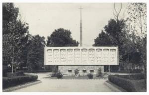 Antiguo monumento a los caídos en accidente de trabajo parque Dorado Sama de Langreo