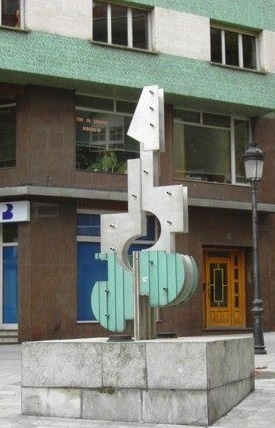 Escultura Guitarra Sama de Langreo