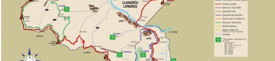 Mapa P.R. AS-44 en Langreo