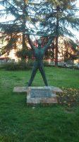 Monumento a los caídos en accidente de trabajo parque Dorado Sama de Langreo