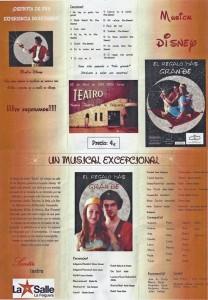 Musical Disney alumnos La Salle Teatro la Felguera Langreo
