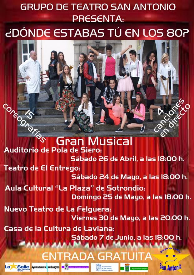 Asturias con niños: ¿Dónde estabas tú en lo ochenta?, teatro gratis en Langreo