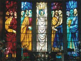 Vidrieras capilla Patronato San José en La Felguera Langreo