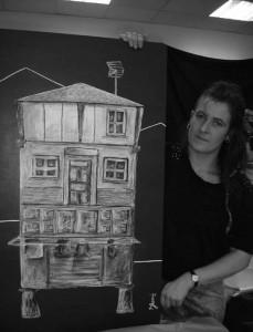 Arquitectura y escuela Cuenca del Nalón Laboral Centro de Arte en la casa de cultura escuelas dorado de Sama de Langreo