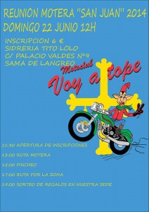 Concentración Motera Sama de Langreo Voy a Tope MotoClub 2014