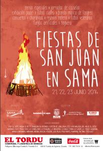 Foguera de San Juan en Sama de Langreo La Llera