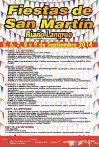 Programa de las Fiestas San Martín de Riaño Langreo 2014