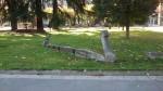 Cuélebres remate del paseo en el parque Dorado