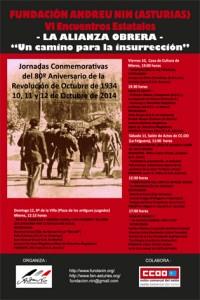 Jornadas conmemorativas 80º aniversario Revolución Ochobre 34 @ CCOO Langreo | Langreo | Principado de Asturias | España
