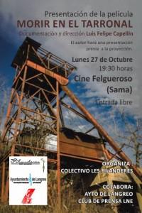Presentación de la película: Morir en el Tarronal @ Cine Felgueroso | Langreo | Principado de Asturias | España