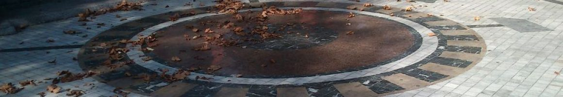 Mosaico en el parque Pepita F. Duro de La Felguera Langreo obra de José Sánchez Prieto