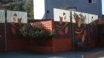 Paramentos verticales en acero pintado en la C/. Álvarez Marina