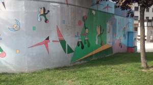 Pinturas parque infantil Langreo Centro La Felguera