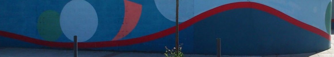 Pintura mural calle infanzones de Langreo en Ciaño obra de José Sánchez Prieto