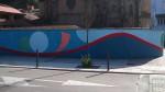 Pintura mural en la C/. Infanzones de Langreo