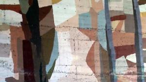 Pintura mural puente pinacoteca Eduardo Úrculo La Felguera Langreo obra de José Sánchez Prieto