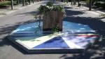 Rosetón en el paseo del parque Dorado