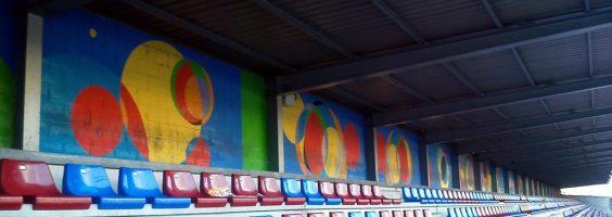 Pintura mural estado Ganzábal José Sánchez Prieto La Felguera Langreo