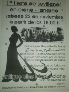 Fiesta de sevillanas @ Antiguo cine Ideal   Langreo   Principado de Asturias   España