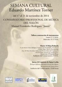 "Semana cultural ""Eduardo Martínez Torner"" @ Conservatorio del Nalón | Langreo | Principado de Asturias | España"