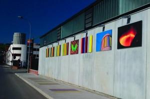 Pintura mural en la entrada de VALNALON La Felguera Langreo