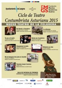 Gala Teatro Costumbrista Asturiano 2015 @ Teatro de La Felguera | Langreo | Principado de Asturias | España