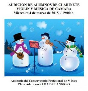 Audición de alumnos de clarinete, violín y música de cámara @ Conservatorio Valle del Nalón | Langreo | Principado de Asturias | España