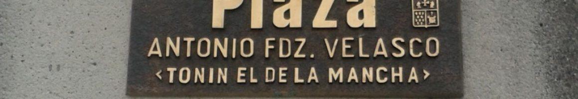 Placa a Antonio Fernández Velasco Tonín el de la Mancha La Felguera Langreo