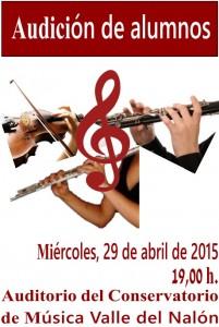 Audición de alumnos de clarinete, flauta travesera y violín @ Conservatorio Valle del Nalón | Langreo | Principado de Asturias | España