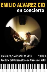 Concierto: Emilio Álvarez Cid @ Conservatorio Valle del Nalón   Langreo   Principado de Asturias   España