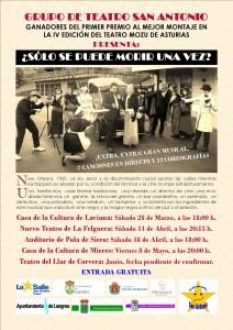 Teatro: ¿Sólo de puede morir una vez? @ Nuevo Teatro de la Felguera | Langreo | Principado de Asturias | España