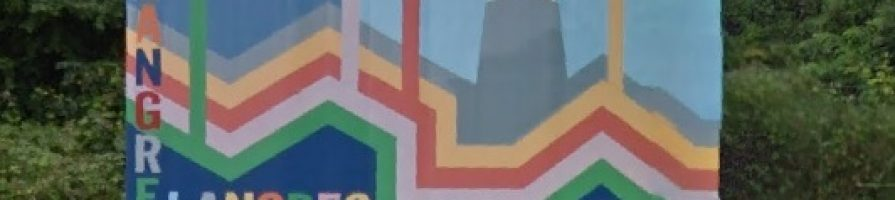 Pintura mural en el Corredor del Nalón La Felguera Langreo