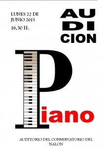 Audición de piano @ Conservatorio Valle del Nalón | Langreo | Principado de Asturias | España