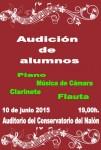 Audición de alumnos de flauta, clarinete, piano y música de cámara