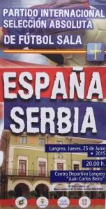 Partido internacional amistoso Fútbol Sala: España - Serbia @ Centro Deportivo Juan Carlos Beiro | Langreo | Principado de Asturias | España