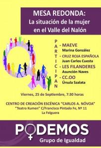 Mesa redonda: Situación de la mujer en el valle del Nalón @ Centro de creación escénica Carlos Álvarez-Nóvoa | Langreo | Principado de Asturias | España