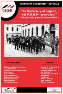 Jornadas conmemorativas 80º aniversario de la fundación del P.O.U.M. @ Casa de Cultura Alberto Vega | Langreo | Principado de Asturias | España
