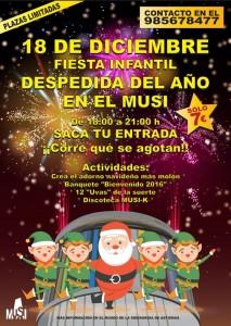 Fiesta infantil de despedida del año en el MUSI @ MUSI | Langreo | Principado de Asturias | España