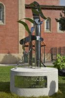 Escultura monumento a Rufino Roces La Felguera Langreo