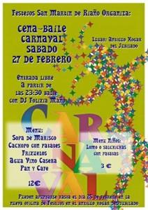 Cena - baile de carnaval @ Antiguo hogar del jubilado | Langreo | Principado de Asturias | España