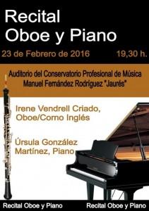 Recital de oboe y piano @ Conservatorio Valle del Nalón | Langreo | Principado de Asturias | España