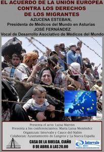 Charla: El acuerdo de la UE contra los derechos de los migrantes @ Casa de la Buelga | Langreo | Principado de Asturias | España