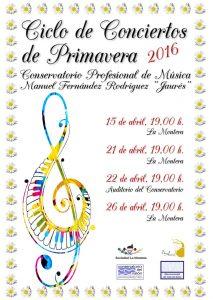 Ciclo de conciertos de primavera 2016 @ La Montera y Conservatorio | Sama | Principado de Asturias | España