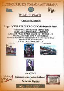 I Concurso de Tonada Asturiana Ciudá de Llangréu @ Cine Felgueroso | Langreo | Principado de Asturias | España