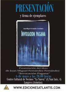 Presentación de libro: Invocación pagana @ Locales Asociación S. Luis | Langreo | Principado de Asturias | España