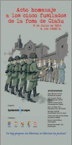 Acto homenaje a los cinco fusilados en la fosa de Ciaño @ Plaza de Abastos | Ciaño | Principado de Asturias | España