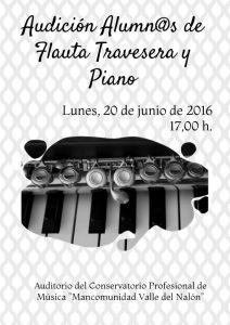 Audición de alumnos de flauta travesera y piano @ Conservatorio Valle del Nalón | Langreo | Principado de Asturias | España